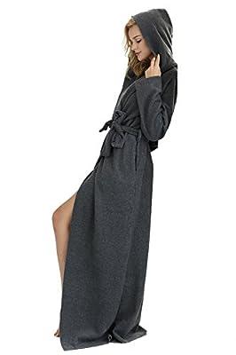 7 VEILS Women and Men MicroFleece Ultra Long Floor-Length Hooded Bathrobes