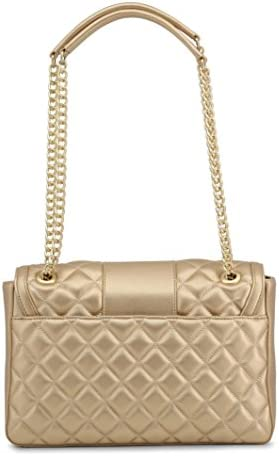 Love Moschino Metallic Superquilted Sac à bandoulière or