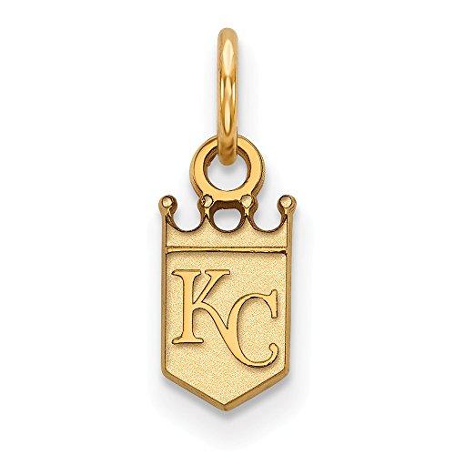 Q Gold MLB Kansas City Royals 10ky MLB LogoArt Kansas City Royals XS Pendant Size One ()
