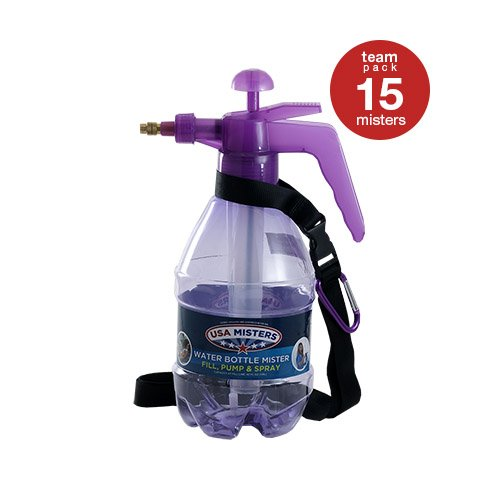 COREGEAR 15 Pack of USA Misters 1.5 Liter Personal Water Mister Pump Spray Bottle Purple … by COREGEAR