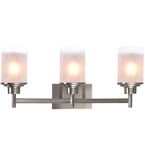 Marketworldcup 22 Inch 3-Light LED Vanity Fixture Brushed Nickel Wall Sconces Lighting - Vanity Carter Light