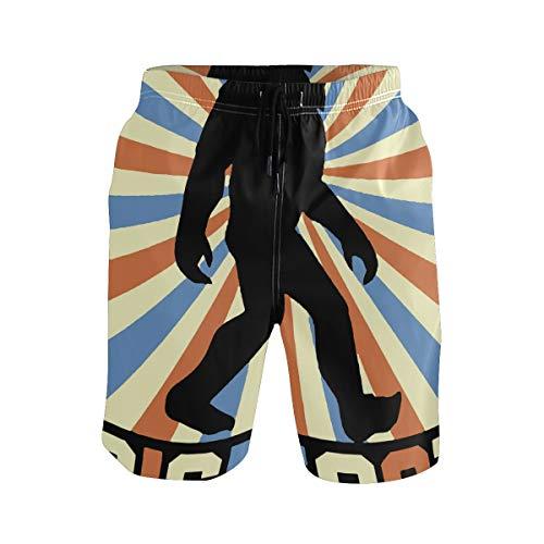FuYin Bigfoot Vintage Sasquatch Mens Swim Trunks Quick Dry Suits Summer Holiday Beach Shorts]()