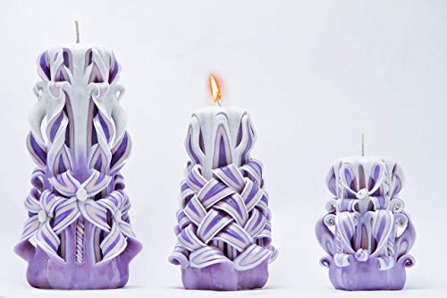 Small/Middle/Large Carved Candles - Candles Gift Set - Candles In Sets - Gifts For Couples - Gifts For Wife - Family Gift Ideas - Female Gift Ideas - 40Th Birthday Gift Ideas-50Th Birthday Gift Ideas