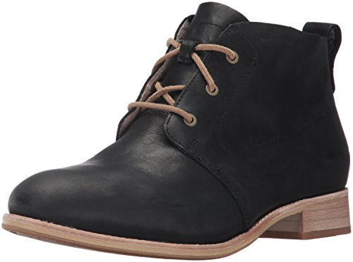 Eyelet Black Leather (Caterpillar Women's Hester 3 Eyelet Leather Chukka Bootie Ankle Boot, Black, 6 Medium US)