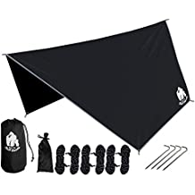 CHILL GORILLA HEX HAMMOCK RAIN FLY TENT TARP Waterproof Camping Shelter. Essential Survival Gear. Stakes Included. Lightweight. Easy to setup. Made from DIAMOND RIPSTOP Nylon