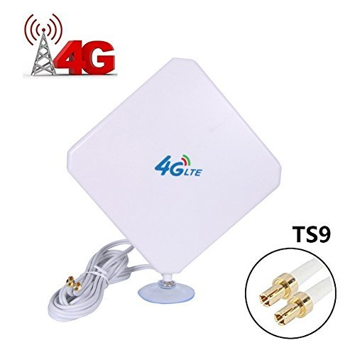 TS9 Connector Antenna 35dBi High Gain 4G LTE GSM 3G Omni Directional Antenna with Strong Suction Cup for Wifi Router Mobile Broadband Outdoor Signal Booster