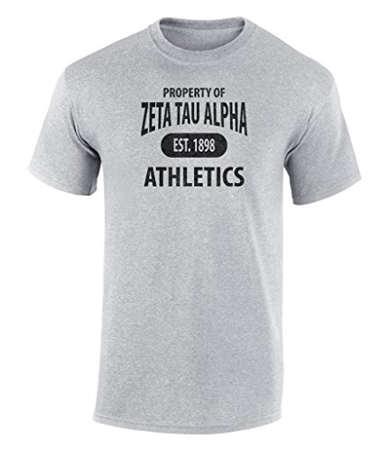 Money Girls T-shirt - Zeta Tau Alpha Athletic Graphic Unisex T Shirt by Fashion Greek Sport Gray Medium