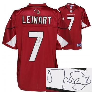 Matt Leinart Autographed Jersey - Reebok EQT Twill Red #7 Hologram - Autographed NFL Jerseys
