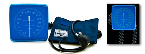 Pivit Wall Mount Aneroid Sphygmomanometer Blood Pressure Monitor   Adult Cuff   Large Easy-To-Read Gauge Glow In The Dark Dial   Swivel Or Remove From Pivoting Mounting Bracket   Built-In Cuff Storage ()