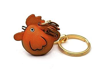 Amazon.com: Llavero de piel con motivo de gallo del zodiaco ...