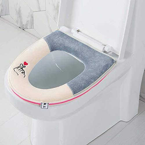 Yuzhijie Kirin badkamer mat, pluche borduurwerk, waterdichte rits capuchon, met handvat, kleur bijpassende romp zitting…