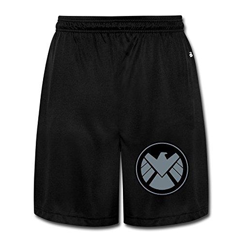 Price comparison product image HYRONE Men's Agent Of Shield Logo Workout Pants Black Size 3X