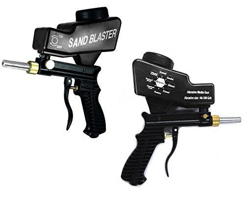 Sandblaster Portable Speed Blaster, Sand Blasting Nozzle Gun, Gravity Feed Sandblast Gun, Speed Blaster with Extra Tip (Black) (Spray Blaster)
