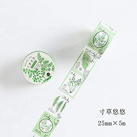 TUVWRP 25mm x 5m Sello Tema Washi Tape Diy Scrapbooking Etiqueta Etiqueta Cinta de Enmascarar Escuela Material de Oficina Papeler/ía Japonesa///F