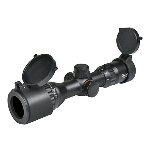 CVLIFE Hunting Rifle Scope 3-9x32 AOL Red and Green Illuminated Tactical Gun Scope with 20 mm Mounts (Green Lens)