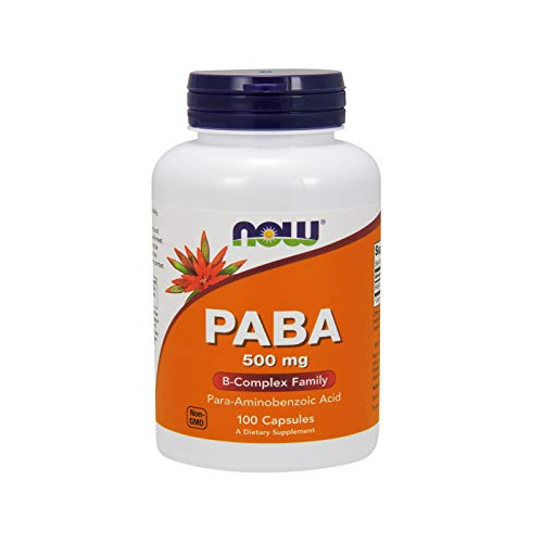 Now PABA 500mg,100 Capsules