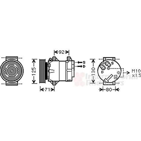 Van Wezel 4300K441 Compresor, aire acondicionado: Amazon.es: Coche y moto