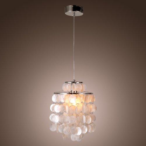 Lava Chrome Lamp (LightInTheBox Mini White Shell Pendant Chandelier (Chrome Finish) [Kitchen])
