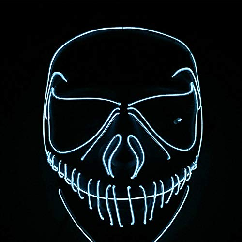 TECHLINK Light up Purge Mask LED Cold Light Mask Fancy Dancers Mask Glowing Masks Creative Style Masquerade Party Street Dance -