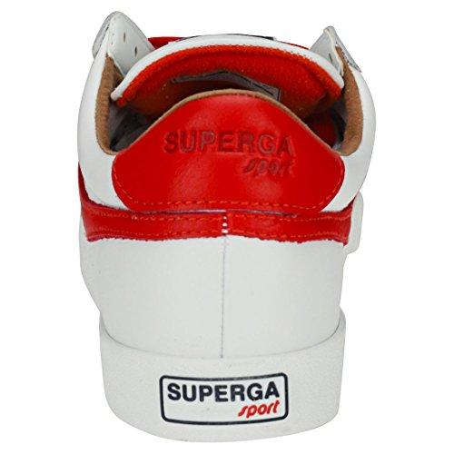 White Red Bianco Uomo rosso Superga Leau Sneaker CcvFHBwAq