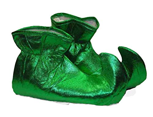 Forum Novelties Women's Deluxe Costume Cloth Elf Shoes, Green, One Size