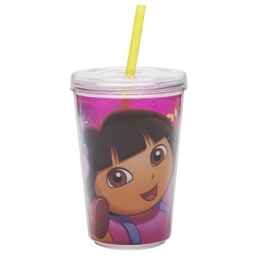 (Dora the Explorer 13 Oz Children's Tumbler with Straw by Zak Designs )