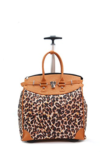 Desert Brown MODERN LEOPARD Rollie Tote (Foldable)