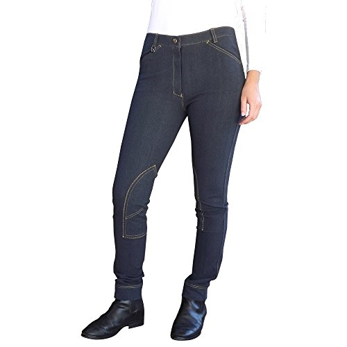 Unicorn Equestrian Denim Jodhpurs Super Stretchy Women's Horse Riding Jeans (Navy, Waist 30