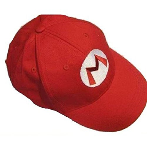 Super Bros Hat Baseball Cap Unisex Cosplay Hat Red]()