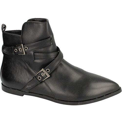 Spot On Damen Ankle Boots, flach Braun