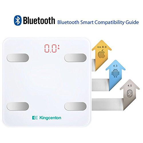 Bluetooth Body Fat Scale by Komire, Smart Wireless Digital Bathroom Scale BMI Scale Measure Weight Body Fat BMI Muscle Mass BMR with APP for iPhone Android, 330lb and large LED Display, FDA Approved by Komire (Image #3)