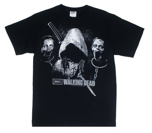 The Walking Dead Michonne Walkers Heads Officially Licensed AMC Adult T-shirt