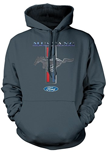 Amdesco Men's Officially Licensed Ford Mustang Pony Emblem H