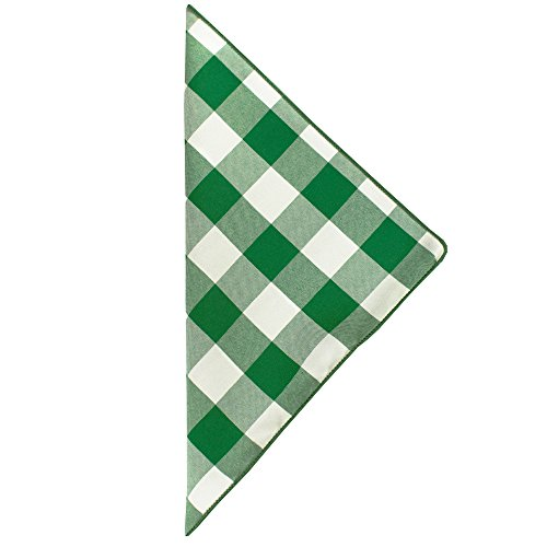 Ultimate Textile (100 Dozen) 10 x 10-Inch Polyester Checkered Cloth Cocktail Napkins - for Picnic, Outdoor or Indoor Party use, Moss and White by Ultimate Textile