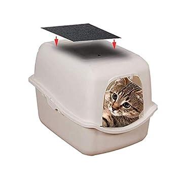 Filtro para Caja de Arena de Gatos Cajas de sartenes Cutito Filtro de carb/ón de Repuesto filtros de Olor de Carbono para Bandeja de Arena para Gatos con Capucha