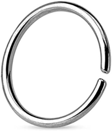 Amazon Com 316l Surgical Steel Seamless Continuous Nose Ring Hoop