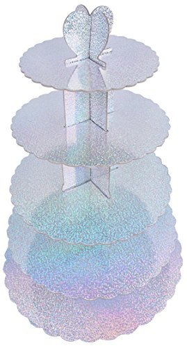 Cake Stand Tiered - Multi Colored 5 Tiered Pastry Cupcake Holder Colorful Stand Tower - 15.50
