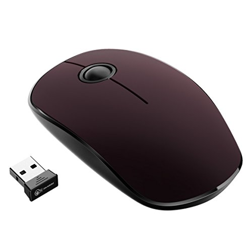 Yantop 2.4G Slim Wireless Mouse with 1600 DPI, Noiseless Portable Optical Mice with Nano Receiver, for PC, Laptop, Computer, Macbook, Black Apple Pc Macbook Laptops