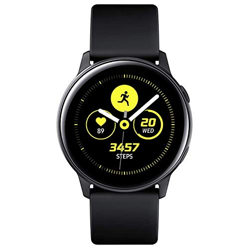 Samsung Galaxy Watch Active - 40mm, IP68 Water Resistant, Wireless Charging, SM-R500N International Version (Android/iOS) Black SM-R500N-GALAXY-WATCH-ACTIVE-BLACK