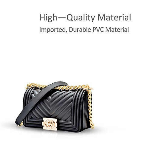 Shoulder Strap Mini Gold amp; Elegant Body NICOLE Bag Cross Quilted Clutch Black Chain with Bag DORIS Evening zxtxgYHn8