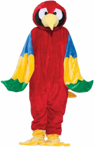 [Forum Deluxe Plush Parrot Mascot Costume, Red, One Size] (Professional Mascot Costumes)