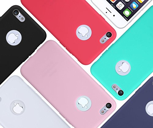 iPhone 6 Case, iPhone 6 Plus Case, EZstation 6 Pack Soft Flexible Silicone Gel Rubber Case Cover For iPhone 6 6S or iPhone 6 Plus 6S Plus (6 Cases For iPhone 6 or 6S _ 4.7