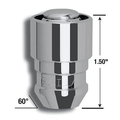 Gorilla Automotive 61631 Acorn Gorilla Guard Locks (12mm x 1.50 Thread Size) - Pack of 4: Automotive