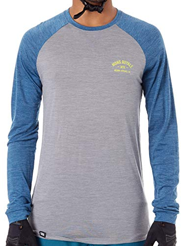 Mons Royale Vapour Lite Long Sleeve Tee (Oily Blue Grey, XL)