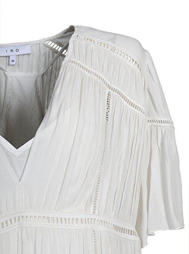 Damen Lahina aus in IRO Viskose Ecr01 Kleid Ecru Elfenbein UwzAZ