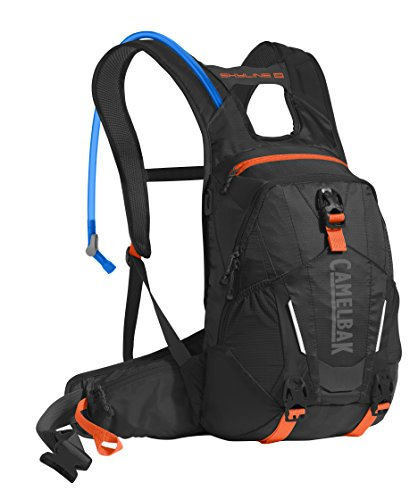 CamelBak Skyline 10 LR Crux Lumbar Reservoir Hydration Pack, Black/Laser Orange, 3 L/100 oz