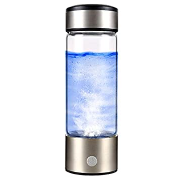 SUNA Ionizador De Agua Rico En Hidrógeno Portátil Vidrio De Agua Transparente, con Tapa Botella De Vidrio Antioxidante Recargable De Alta Calidad Ionizador ...