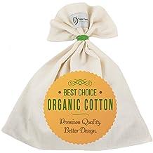 Organic Cotton Nut Milk Bag - Super Smooth Almond Milk Maker - No Seam Bottom, Drawstring Free - Reusable Food Strainer for Yogurt, Cheese Cloth, Juice, Tea, Coffee & More - Natural and Eco-Friendly