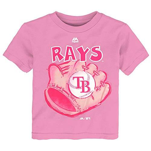 Outerstuff Tampa Bay Rays MLB Majestic Toddler Pink Girl Baseball Mitt - Pink Baseball Mlb Shirt