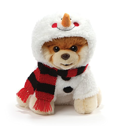 (GUND World's Cutest Dog Boo Holiday Snowman Costume Stuffed Animal Plush,)